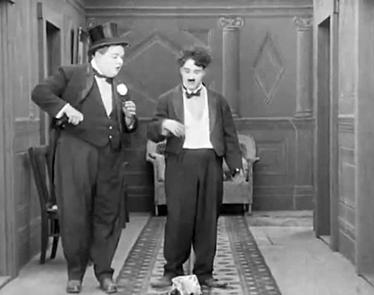 "Chaplin and Roscoe ""Fatty"" Arbuckle"