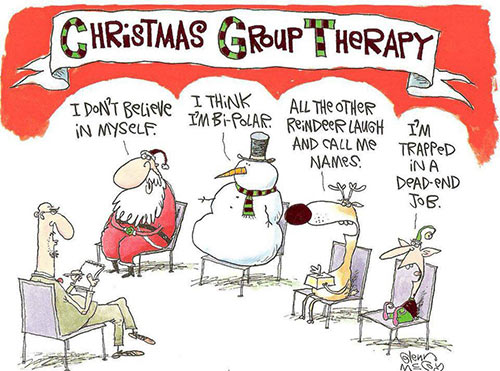 Parting Shots: Christmas Group Therapy
