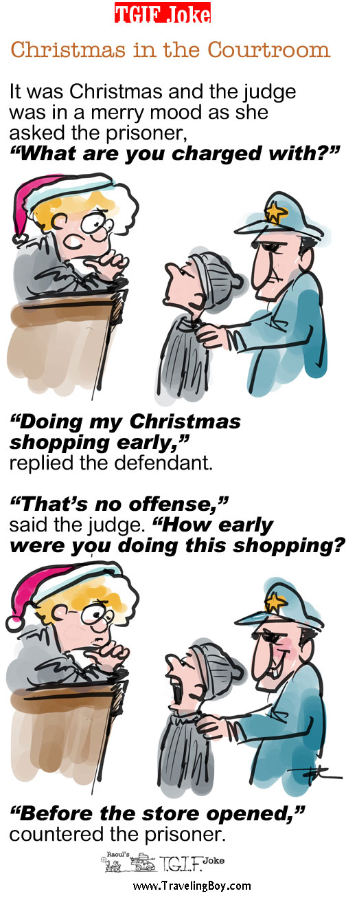 TGIF Joke of the Week: Christmas in the Courtroom