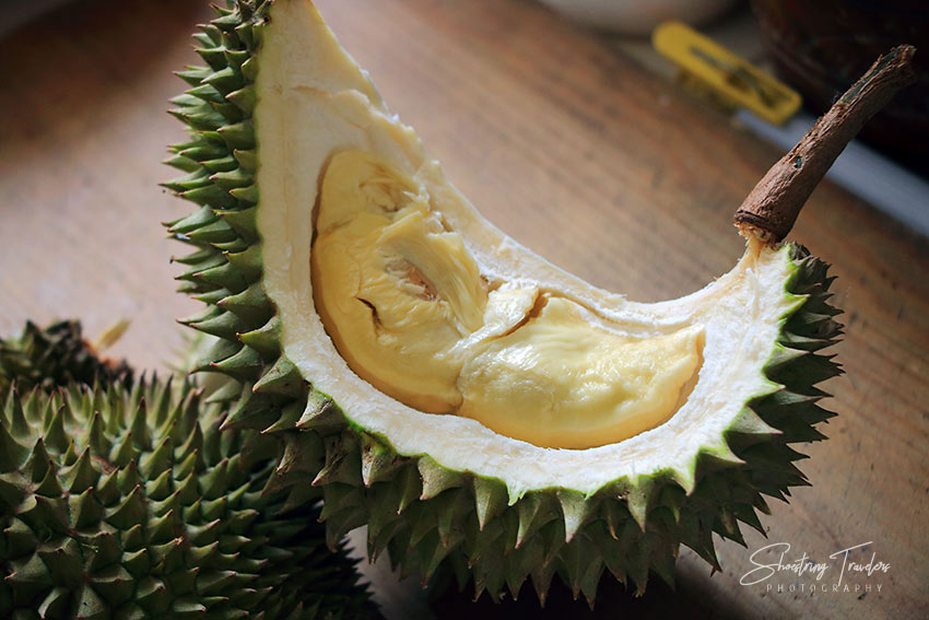 interior of a durian fruit