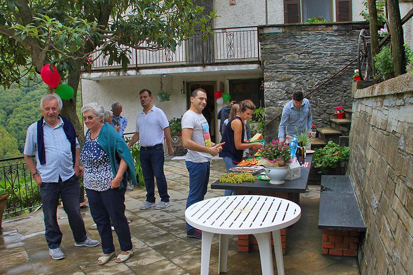 Boitano family celebration in Lorsica