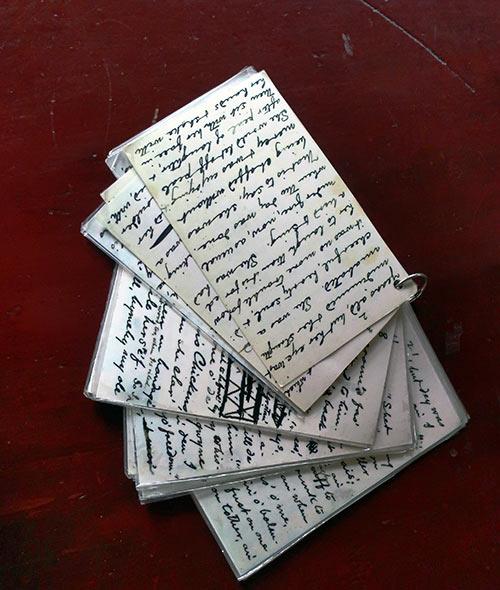 Mark Twain's handwritten notes on a short story, 1874