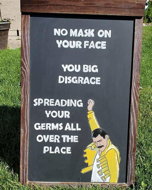 Parting Shots: No Mask on Your Face
