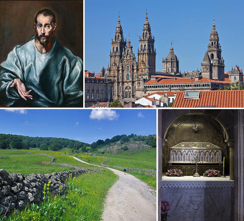 scenes from the Santiago de Compostella pilgrimage