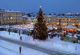Finland's Senate Square during Christmas time