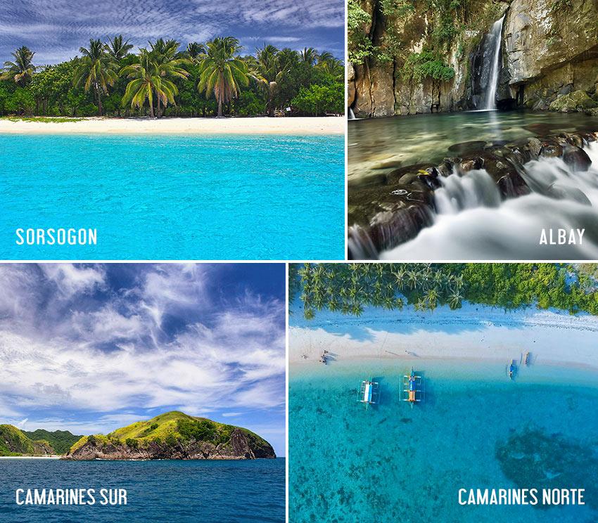 scenes from Sorsogon, Albay, Camarines Norte and Camarines Sur, Bicol Region, Philippines