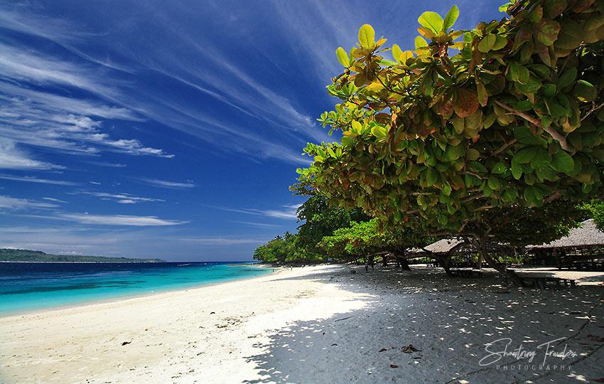 a beach in Talicud Island, Samal, Philippines