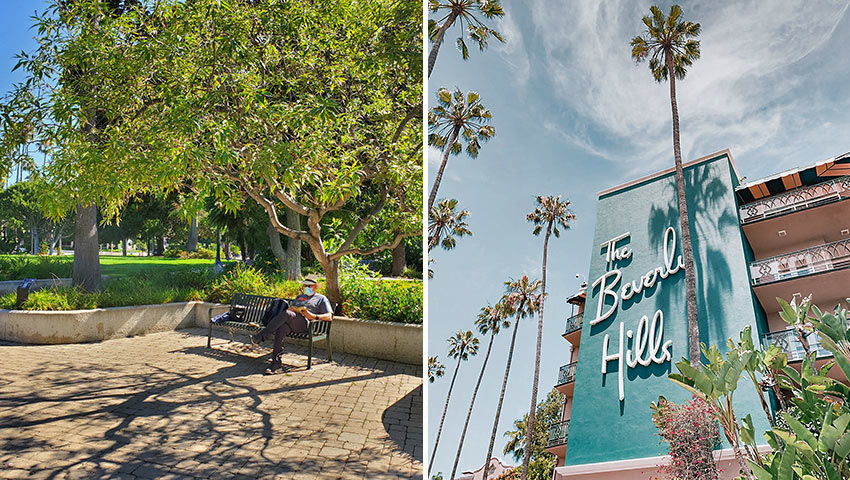 Will Rogers Park and the Bevery Hills Hotel