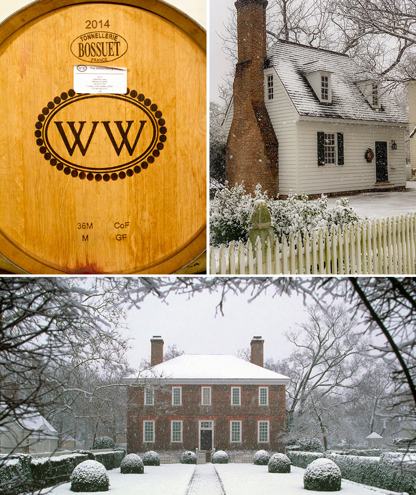 Williamsburg Winery and Williamsburg in winter