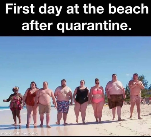 Parting Shots: 1st Day on Beach After Quarantine