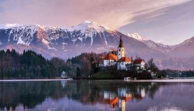 Bled Church at Lake Bled