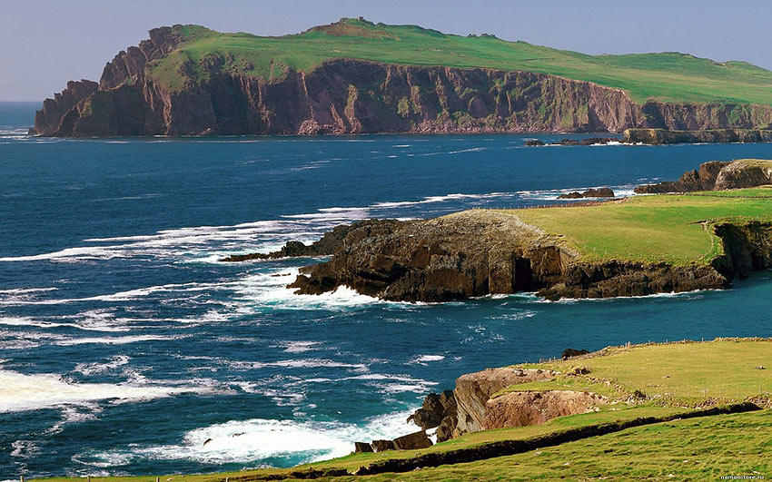 Ireland coastal scenery