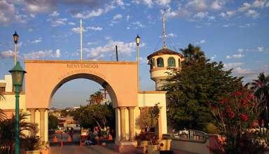 La Paz welcome arch