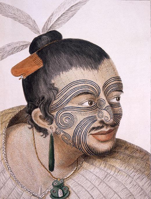 Maori man portrait