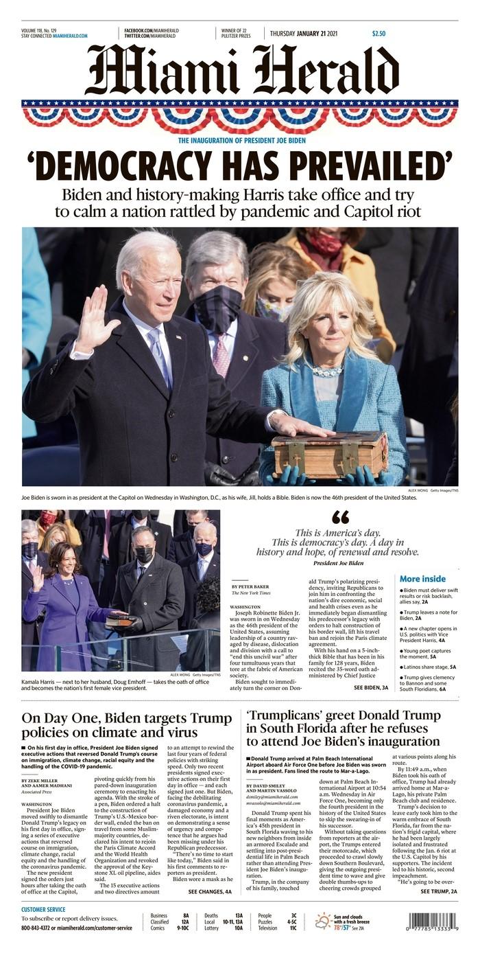 Miami Herald cover
