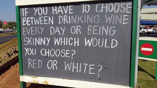 Parting Shots: Red or White