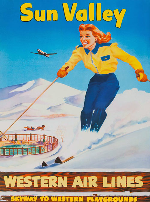 vintage Sun Valley promotional poster
