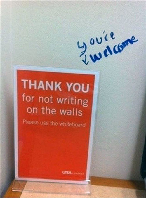 Parting Shots: Thank You for Not Writing