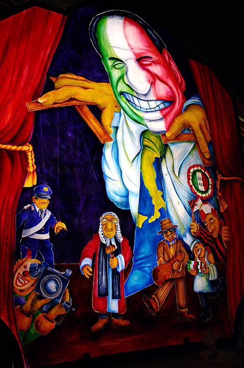figure of Italy's Silvio Berlusconi in Basel carnival