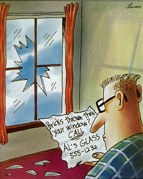 Parting Shots: Bricks Thru Your Window