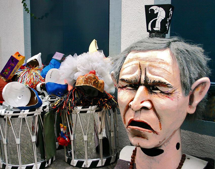 Bush figure in Basel carnival