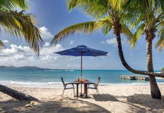 dining al fresco at The Buccaneer Resort, St. Croix
