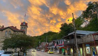 main street in Eureka Springs, Arkansas