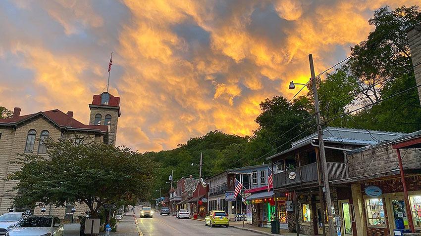 main street in Eureka Springs, Arkansas
