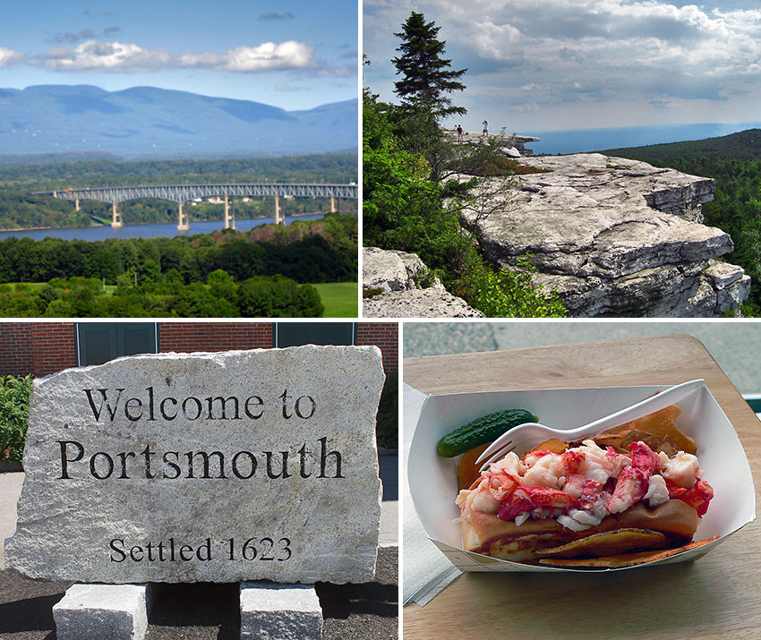 Hudson Valley, Portsmouth and Bar Harbor, Maine