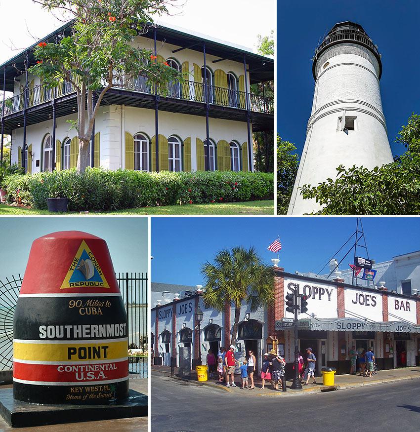 scenes in Key West, Florida