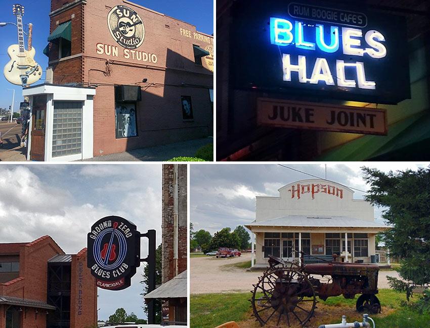 Memphis and Clarksdale blues places