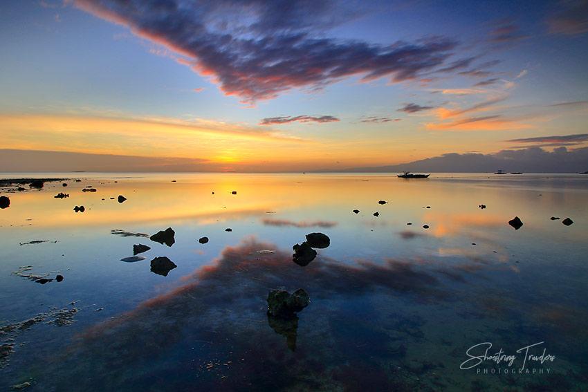 colorful sunset in San Juan