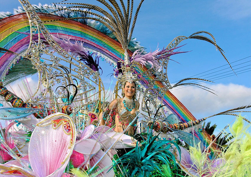 carnival scene in Tenerife, Canary Islands, Spain