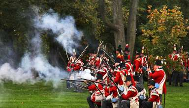 reenactment of the Battle of Queenston Heights