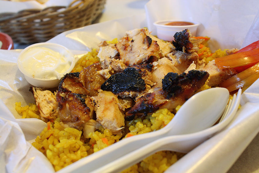 chicken shawarma rice from the Lebanese restaurant Meshwe in Quezon City, Philippines