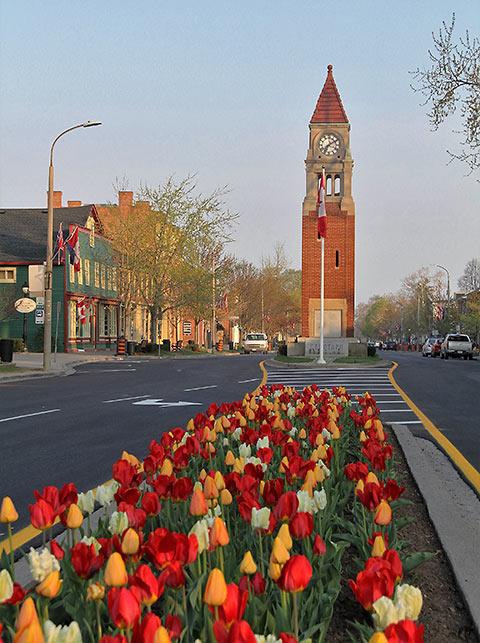 downtown Niagara-on-the-Lake in early spring