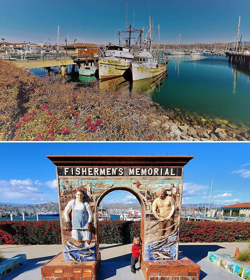 old fishing boats and the Fisherman's Memorial