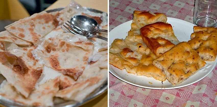 Focaccia di Recco and Focaccia Genovese