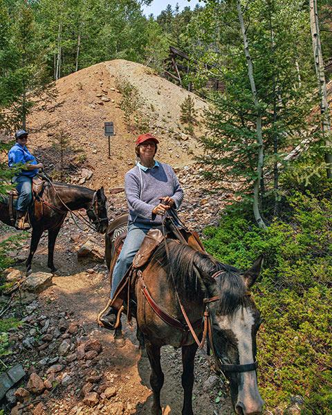 horseback riding on the Pipeline Trail