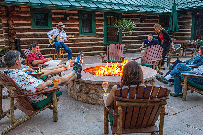 Jeff Houlton entertaining at The Ranch at Emerald Valley