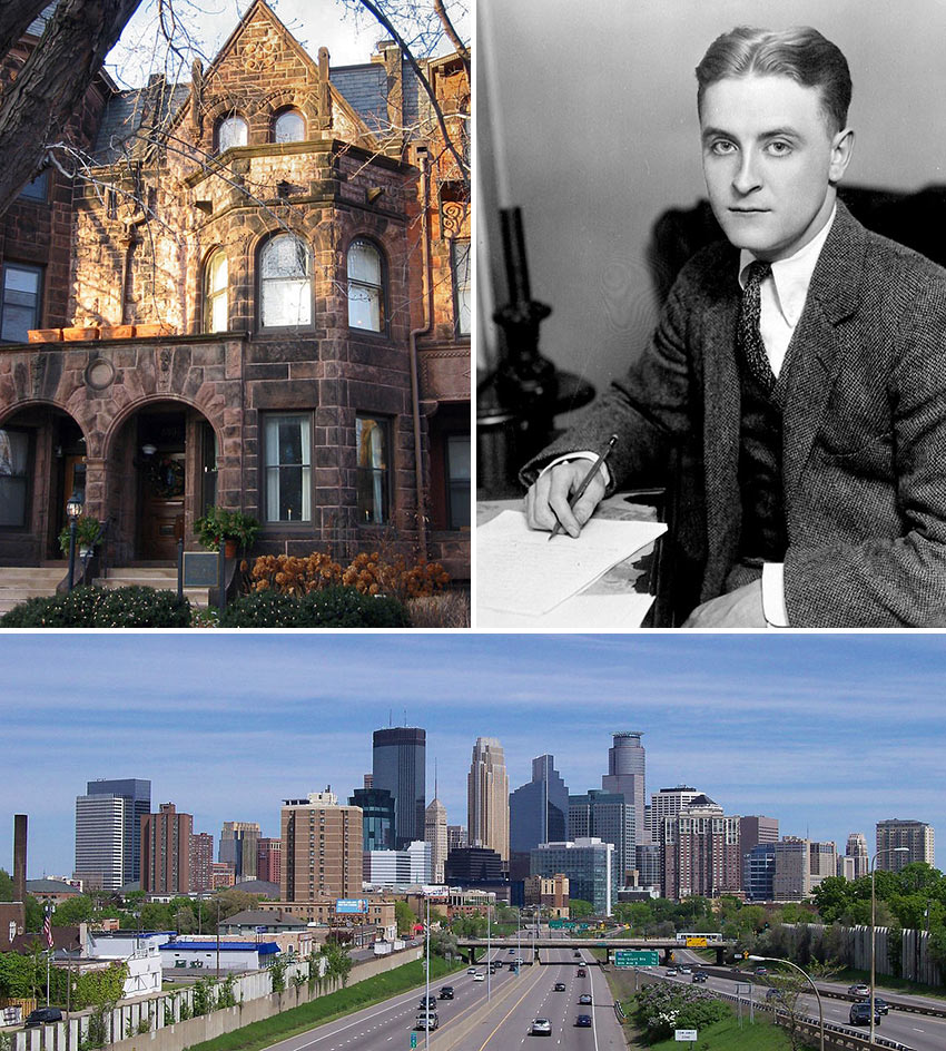 scenes from Minneapolis and St. Paul, MN and F. Scott Fitzgerald