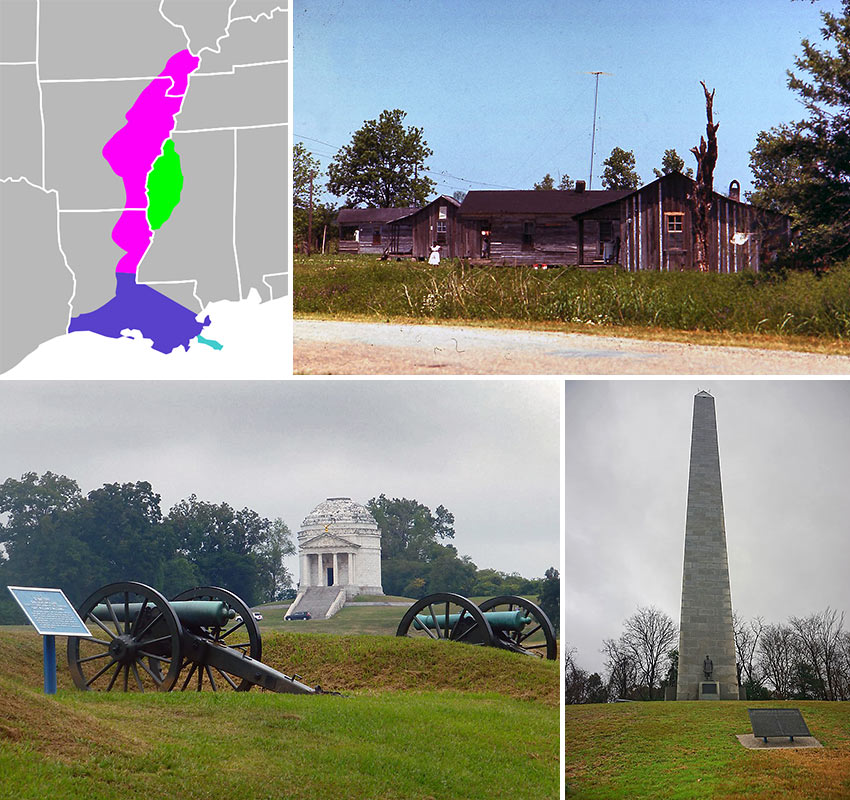 scenes from the Mississippi Delta and Vicksburg