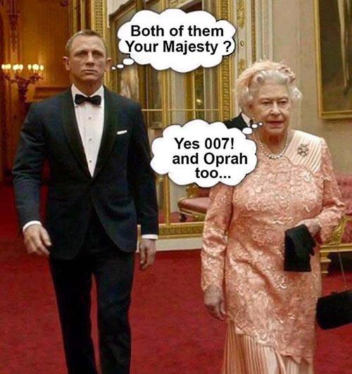 Parting Shots: Queen Elizabeth & James Bond