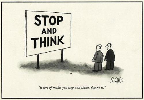 Parting Shots: Stop & Think