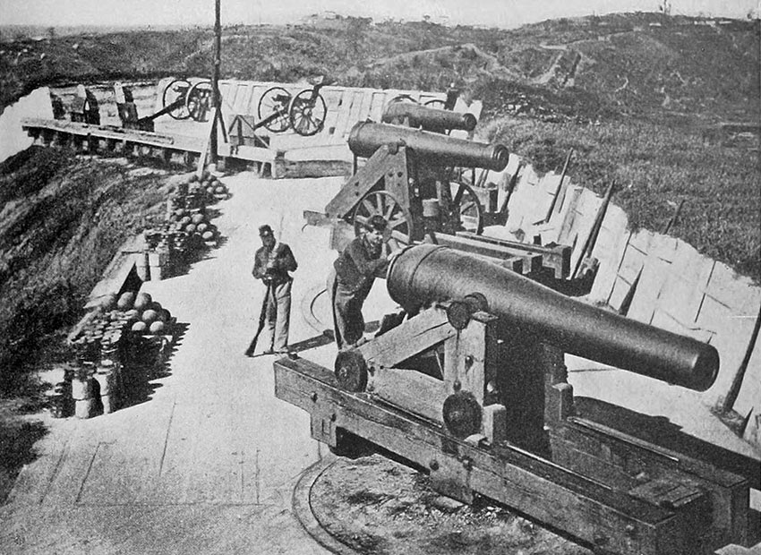 Union Battery during the siege of Vicksburg