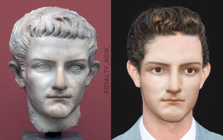 Caligula digitally reimagined by Becca Saladin