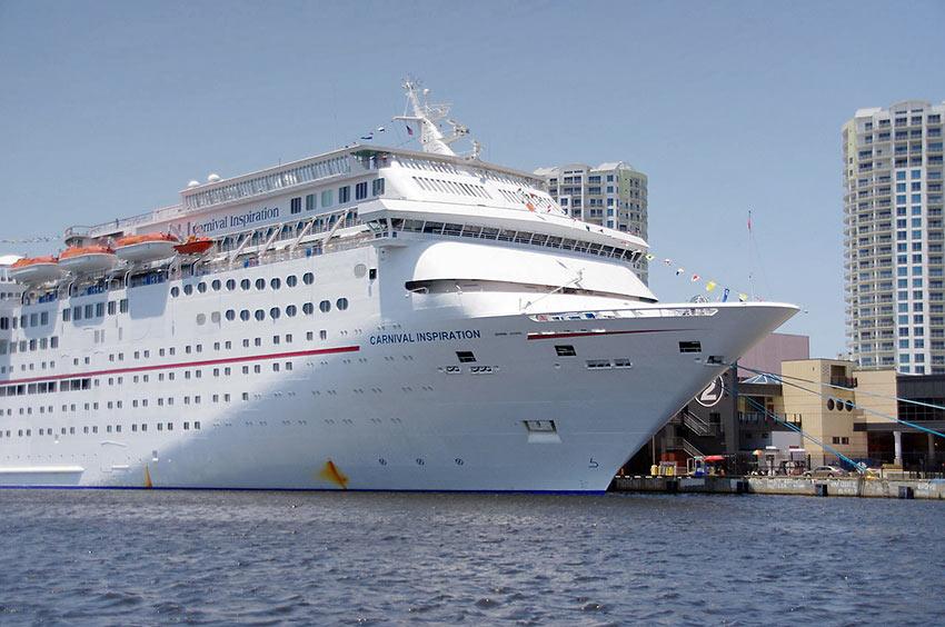 Carnival Inspiration at port in Tampa, FL