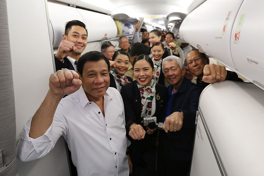 Duterte delegation and PAL cabin crew