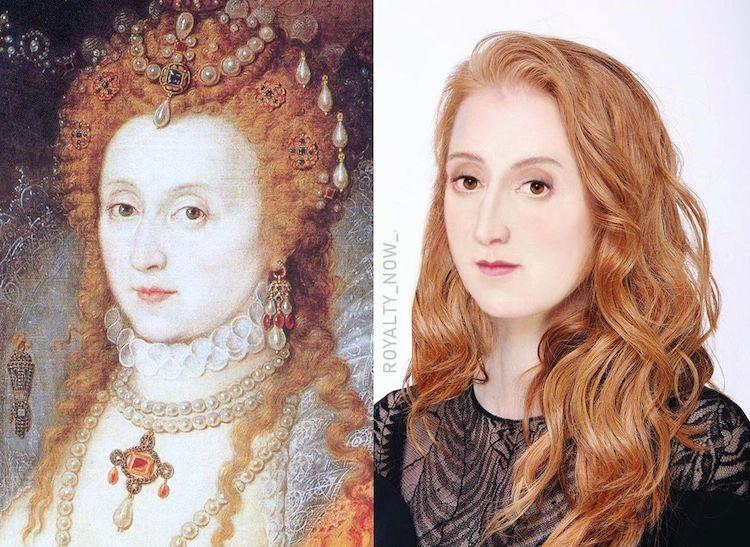 Queen Elizabeth I digitally reimagined by Becca Saladin