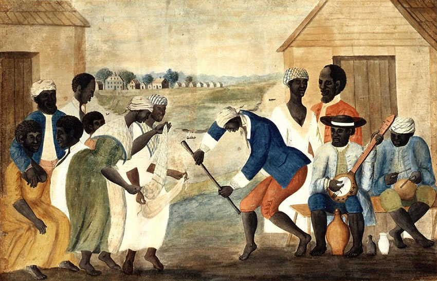 'The Old Plantation' - a 1790 painting of Gullah slaves